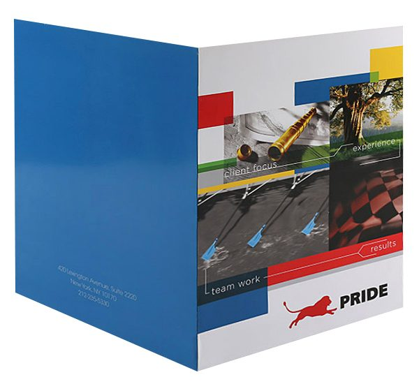 Pride Global Pocket Folder (Front and Back View)