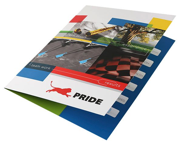 Pride Global Pocket Folder (Front Open View)