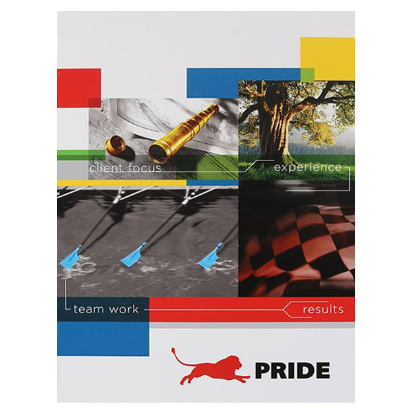 Pride Global Pocket Folder (Front View)