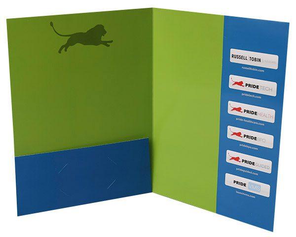 Pride Global Pocket Folder (Inside Open View)