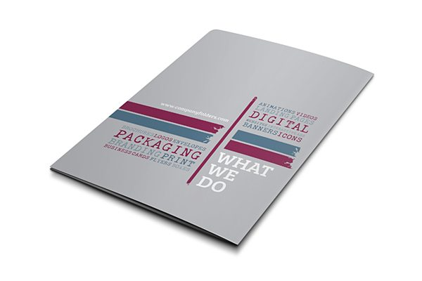 Tag Cloud Design Firm Pocket Folder Template (Back View)
