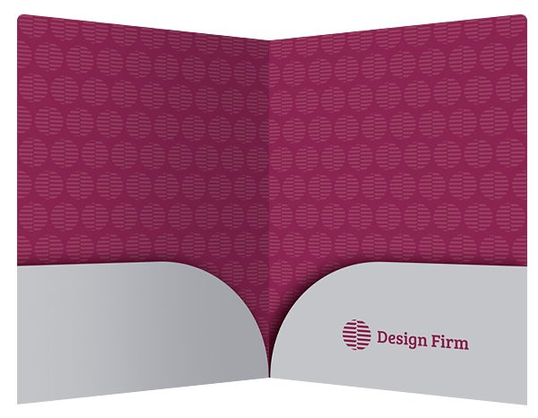 Tag Cloud Design Firm Pocket Folder Template (Inside View)