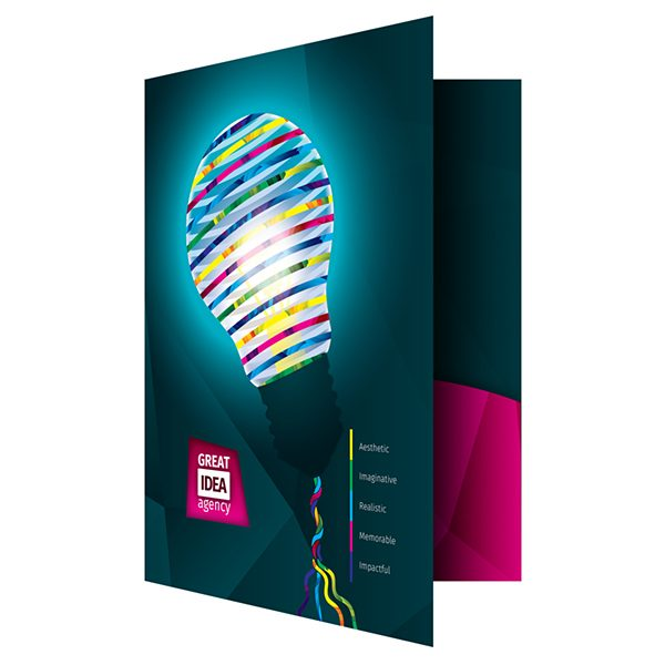 Light Bulb Artwork Folder Template