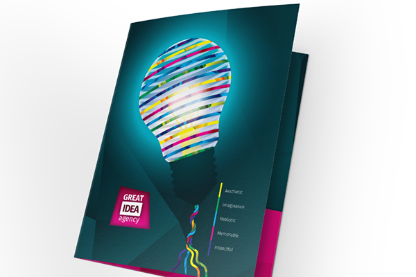 Light Bulb Artwork Folder Template