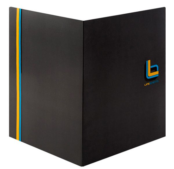 Life Benefits Insurance Pocket Folder (Front and Back View)