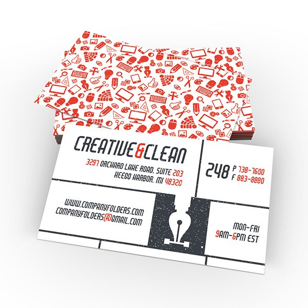 Creative & Clean AI Business Card Template (Front and Back View)