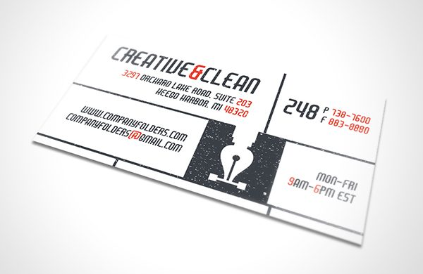 Creative & Clean AI Business Card Template (Front View)