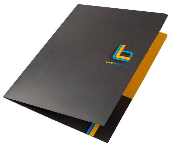 Life Benefits Insurance Pocket Folder (Front Open View)