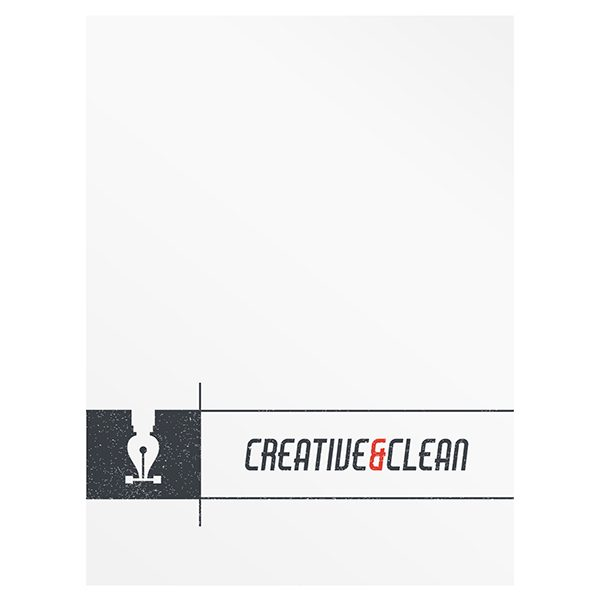 Creative clean folder and business card free ai template creative clean ai folder template front view flashek