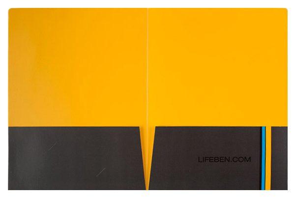 Life Benefits Insurance Pocket Folder (Inside Flat View)