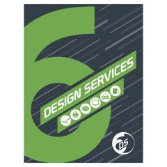 Six Design Services Folder Template (Front View)