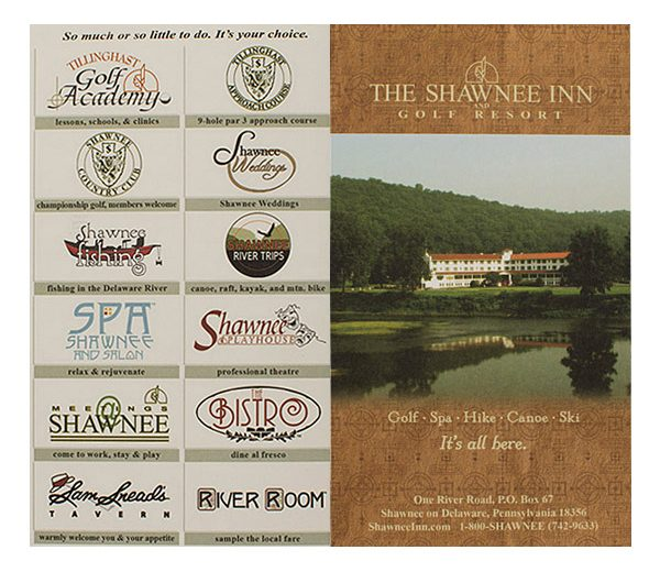 Shawnee Inn & Golf Resort Key Card Folder (Front and Back Flat View)