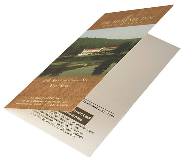 Shawnee Inn & Golf Resort Key Card Folder (Front Open View)