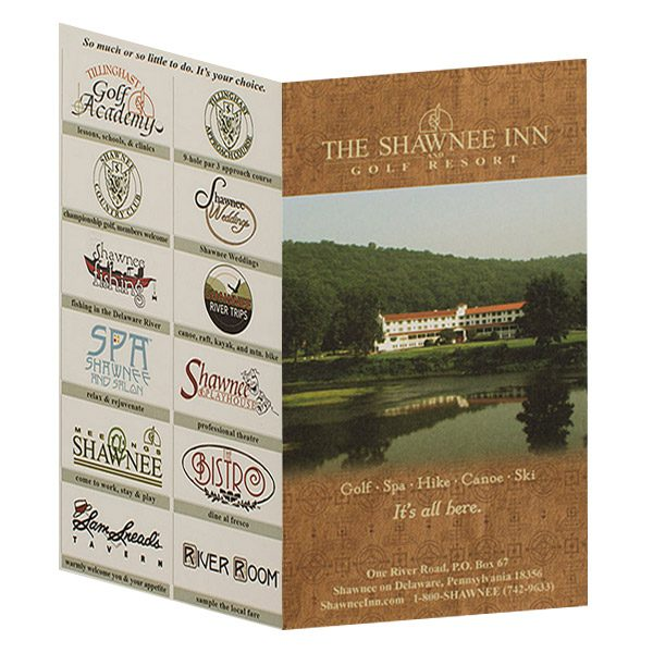 Shawnee Inn & Golf Resort Key Card Folder (Front and Back View)