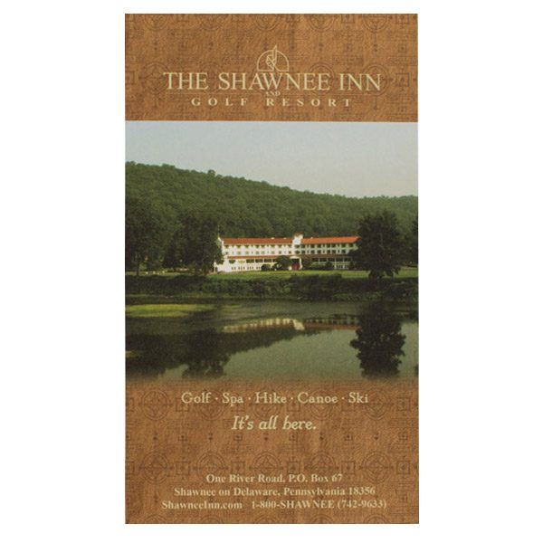 Shawnee Inn & Golf Resort Key Card Folder (Front View)