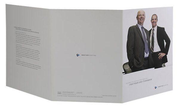 Destiny Capital Pocket Folder (Back Open View)