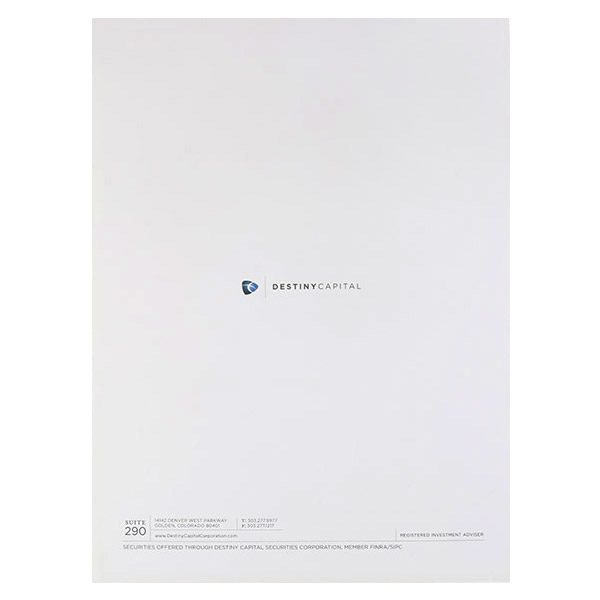 Destiny Capital Pocket Folder (Back View)