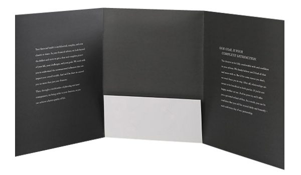 Destiny Capital Pocket Folder (Inside View)