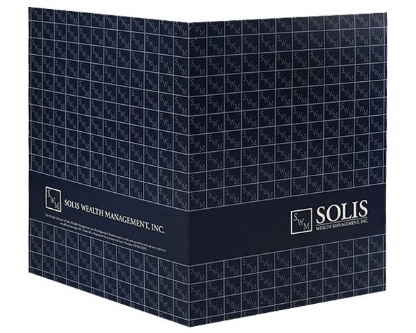 Solis Wealth Management, Inc. Pocket Folder (Back Open View)
