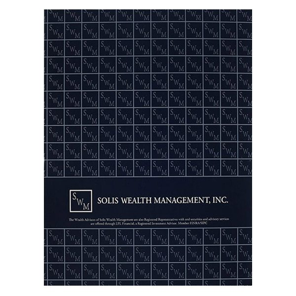 Solis Wealth Management, Inc. Pocket Folder (Back View)