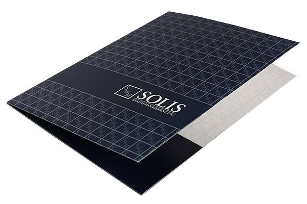 Solis Wealth Management, Inc. Pocket Folder (Front Open View)