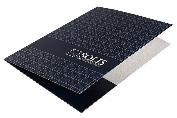 Solis Wealth Management, Inc. Pocket Folder (Front Open View)