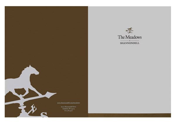 The Meadows at Shannondell Pocket Folder (Front and Back Flat View)