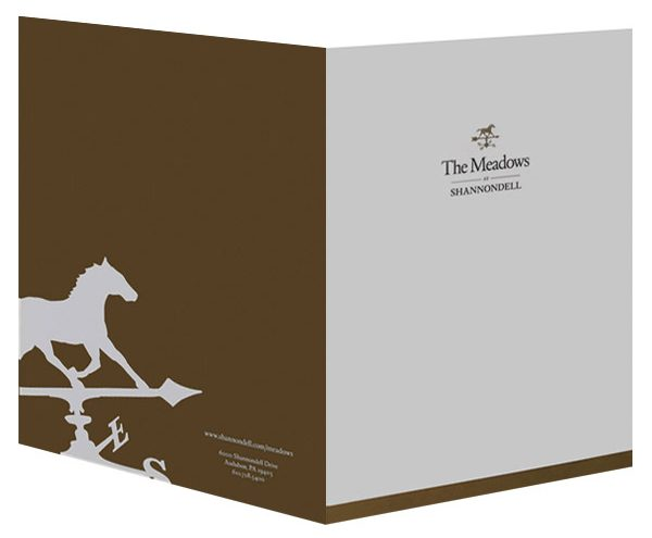 The Meadows at Shannondell Pocket Folder (Front and Back View)