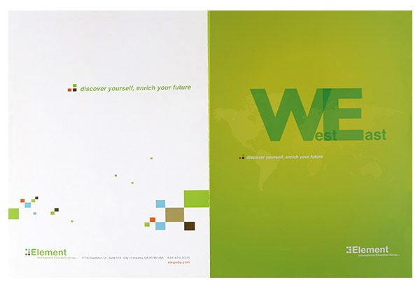 Element International Education Group Pocket Folder (Front and Back View)