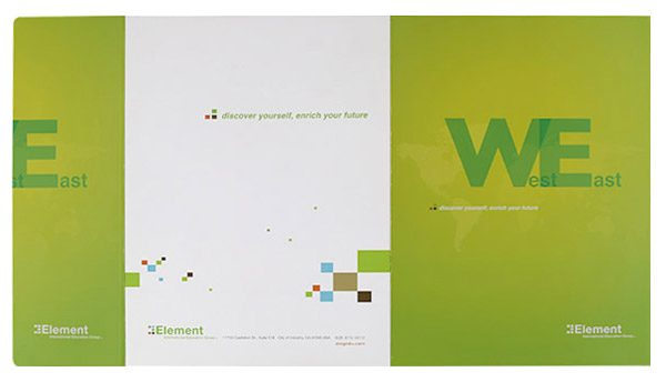 Element International Education Group Pocket Folder (Front and Back Flat View)