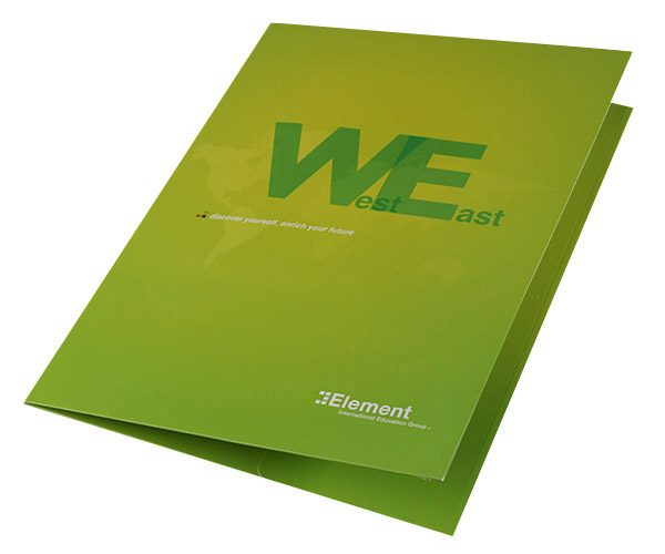 Element International Education Group Pocket Folder (Front Open View)