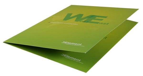 Element International Education Group Pocket Folder (Front Open Close View)