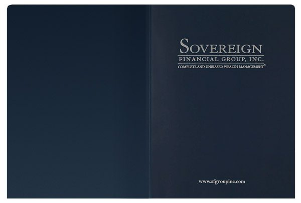 Sovereign Financial Group, Inc. Pocket Folder (Front and Back Flat View)