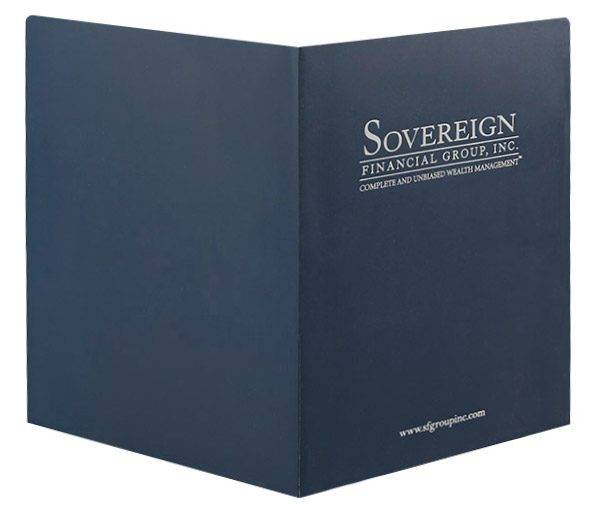 Sovereign Financial Group, Inc. Pocket Folder (Front and Back View)