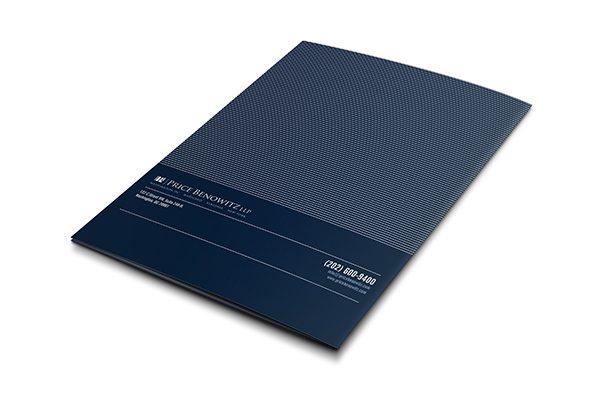 Price Benowitz LLP Pocket Folder (Back View)