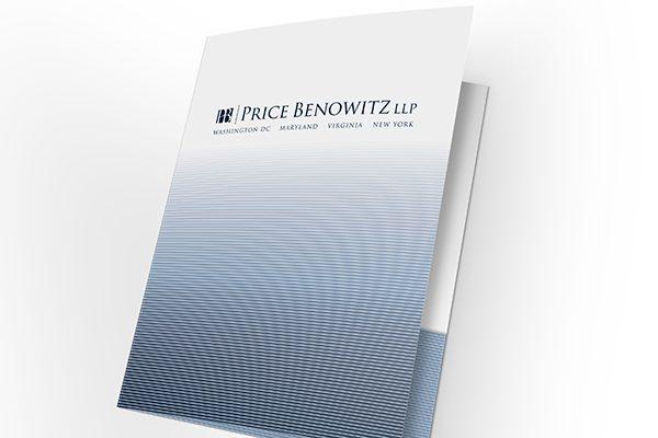 Price Benowitz LLP Pocket Folder (Front Open Tilted View)