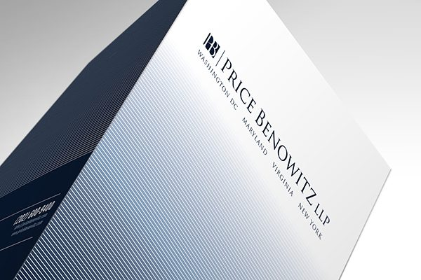 Price Benowitz LLP Pocket Folder (Top Tented View)