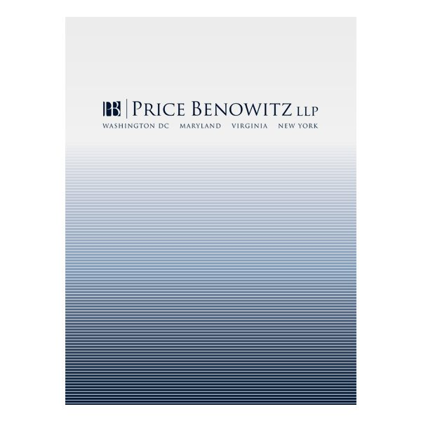Price Benowitz LLP Pocket Folder (Front View)