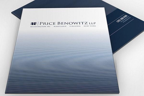 Attorney Presentation Folders for Price Benowitz LLP