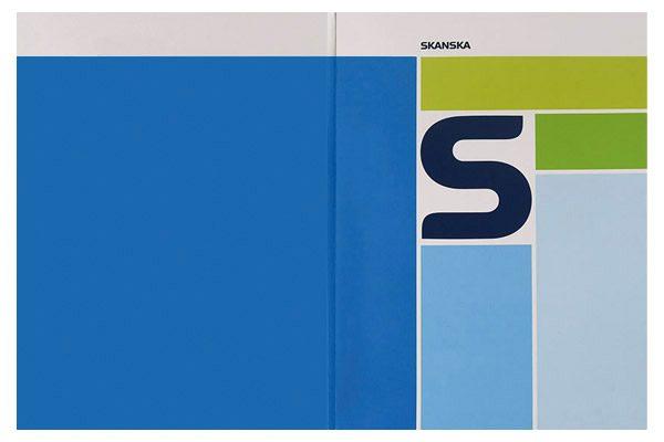 Skanska Pocket Folder (Front and Back Flat View)