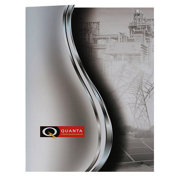 Quanta Power Incorporated Pocket Folder