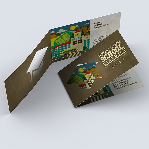 School District Business Card Template (Front and Back View)