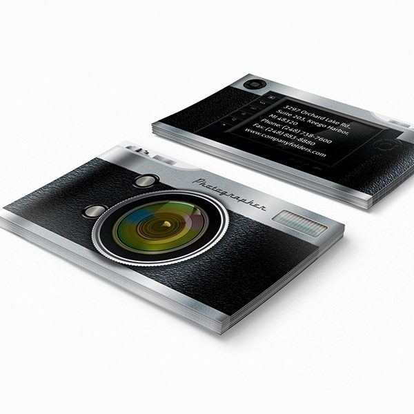 Camera District Business Card Template (Front and Back View)