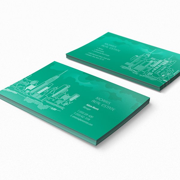 New York City Skyline Business Card Template (Front and Back View)