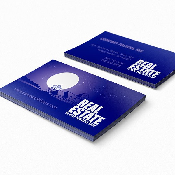 Peaceful Night Skyline Business Card Template (Front and Back View)