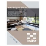 Elegant Home Real Estate Pocket Folder & Flyer Template