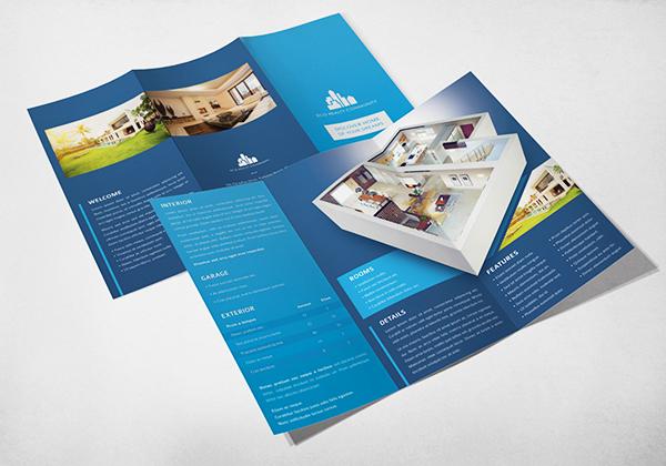 eco real estate pocket folder brochure template. Black Bedroom Furniture Sets. Home Design Ideas