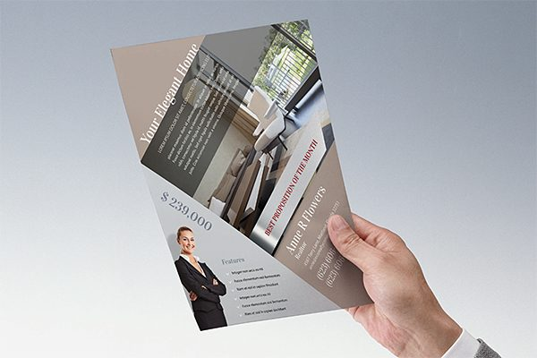 elegant home real estate pocket folder  u0026 flyer template