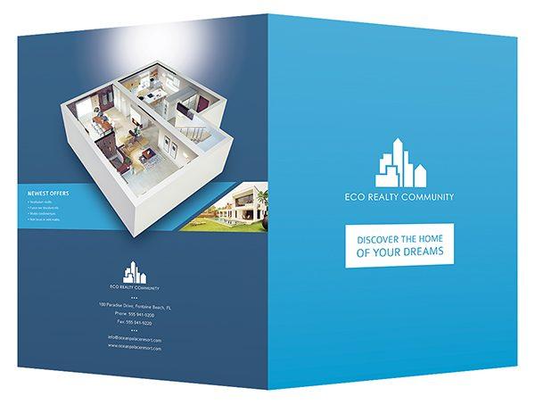 Charla sun real estate presentation folder.