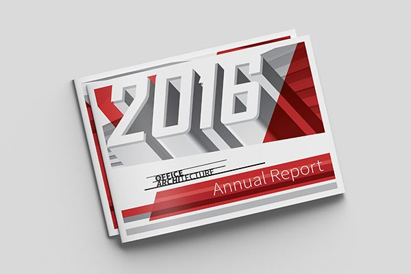 Office Architecture Folder & Annual Report Cover Template